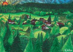 Lalleyriat, charmant village du Jura, carte postale