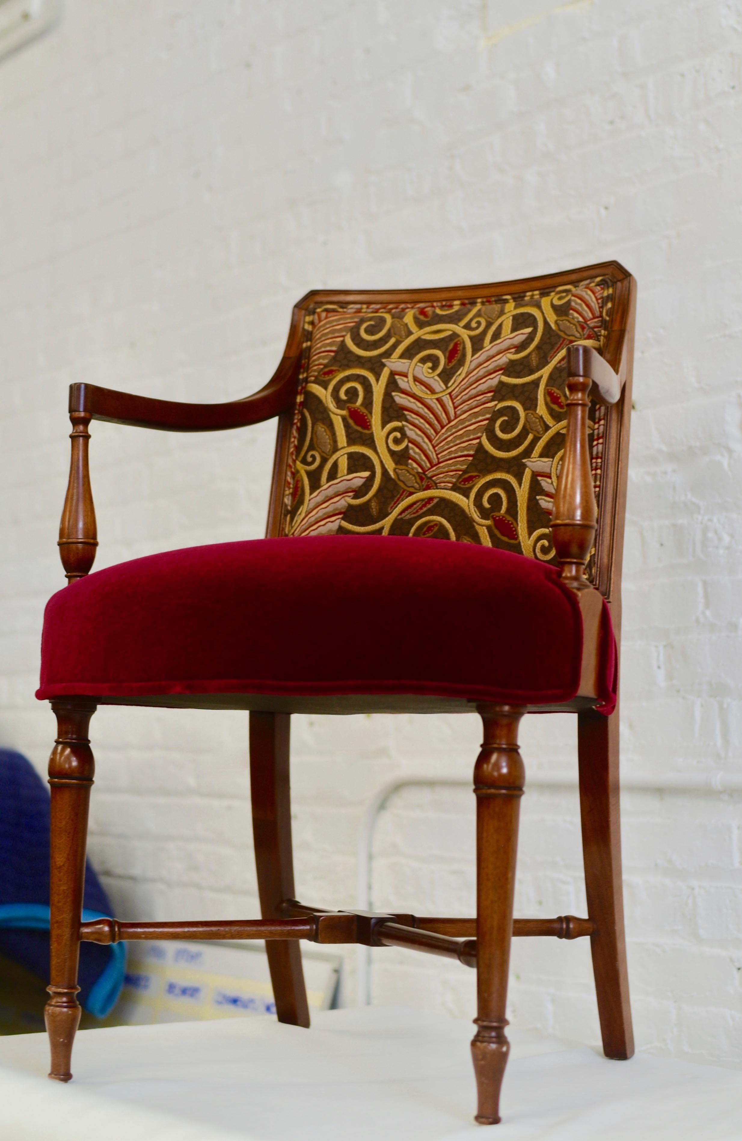 Red Chair - Romann Custom Upholstery