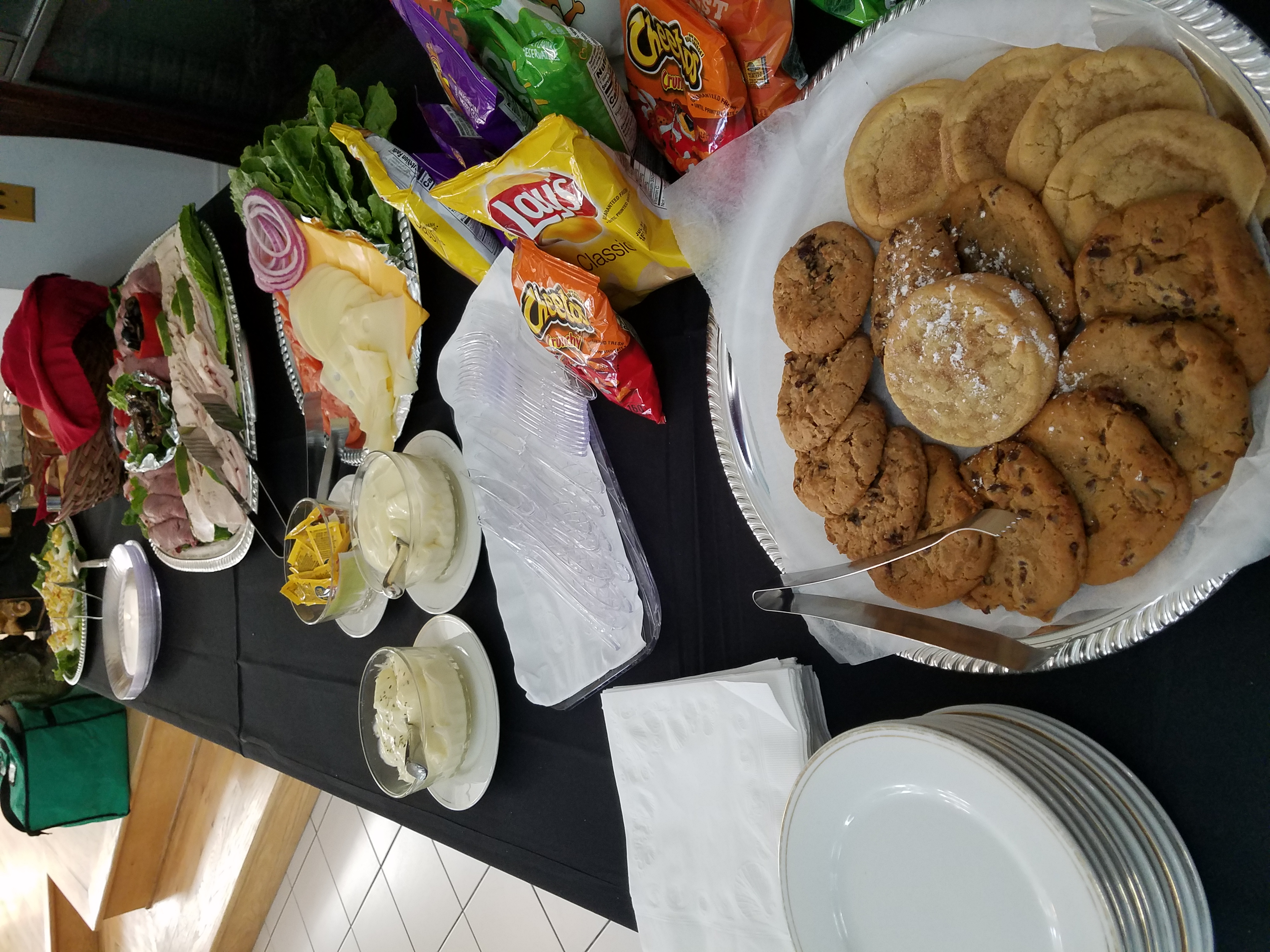 Cookies and Deli Table
