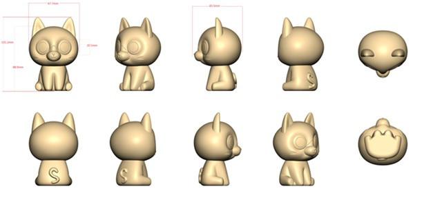 Popper Pals Kitty factory sculpt