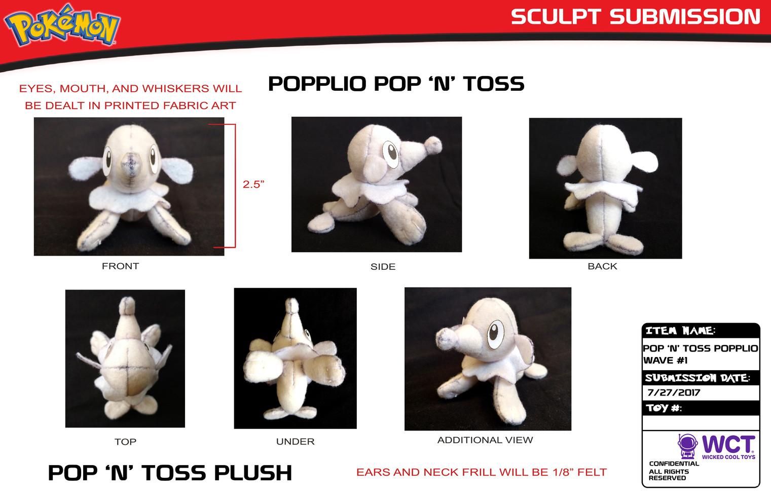 Toss n Pop Popplio Plush Turns