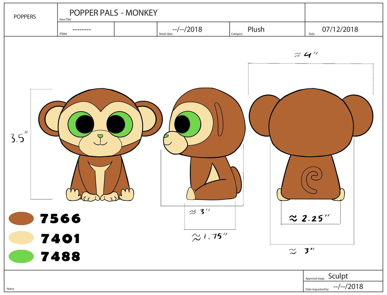 Popper Pals Monkey Product Sheet