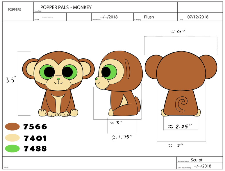 Popper Pals Monkey Product Sheet