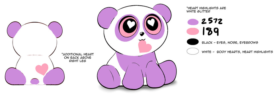 Valentines Panda Deco 9
