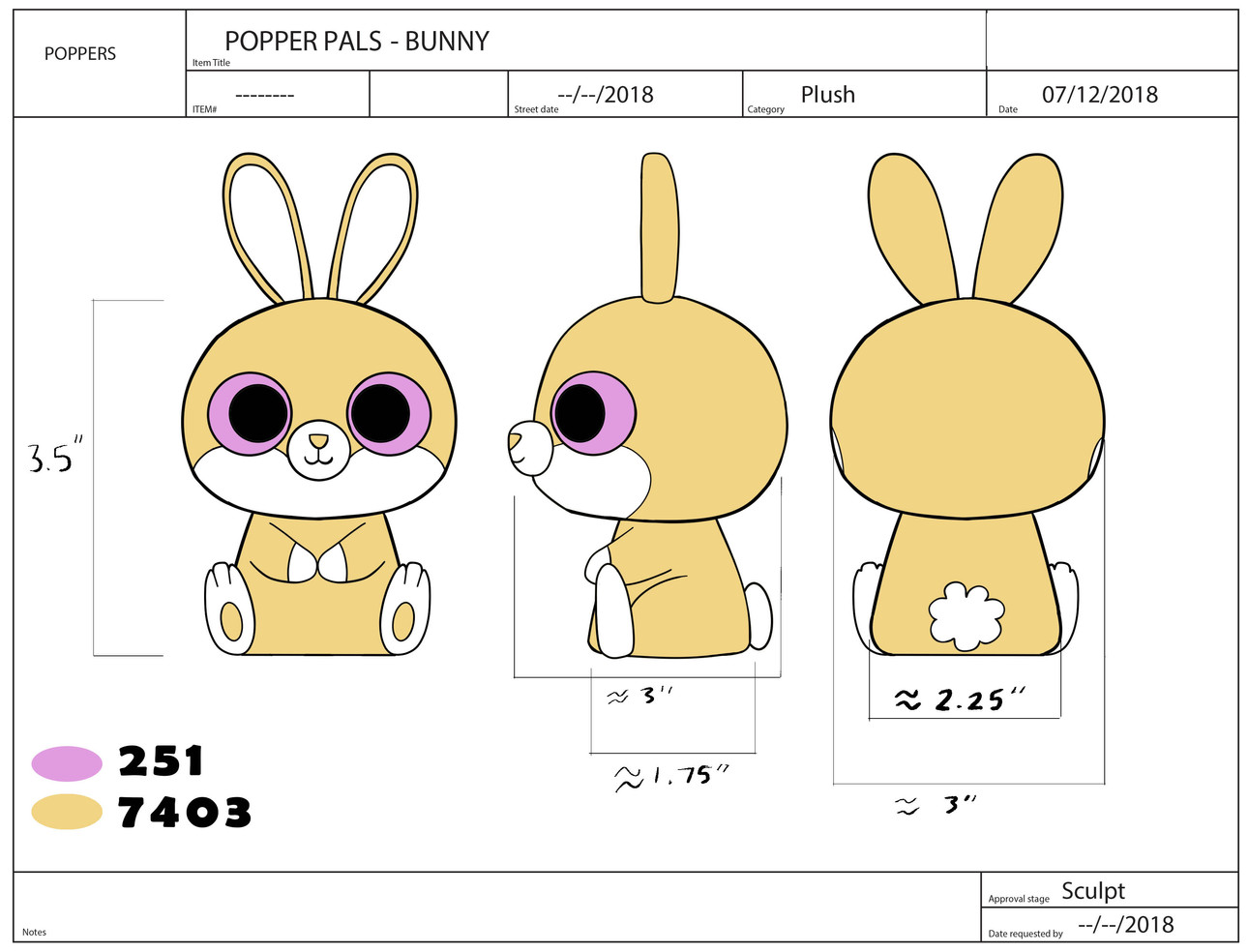 Popper Pals Bunny Product Sheet