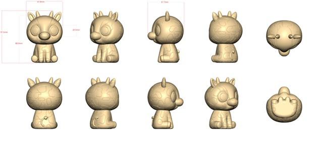 Popper Pals Giraffe factory sculpt