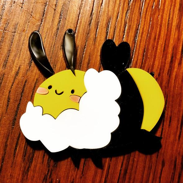 Laser Cut Fluffy Bee