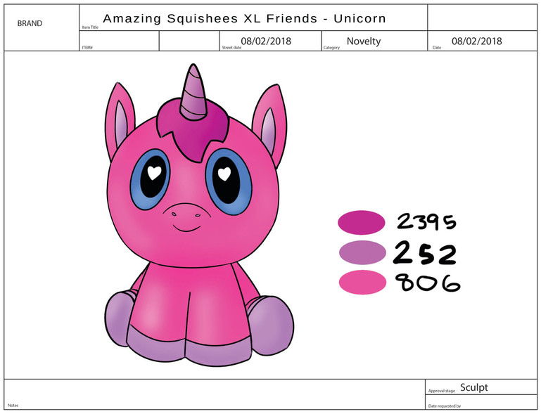 AMAZING SQUISHEE XL FRIENDS Unicorn