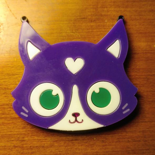 Laser Cut Purple Cat