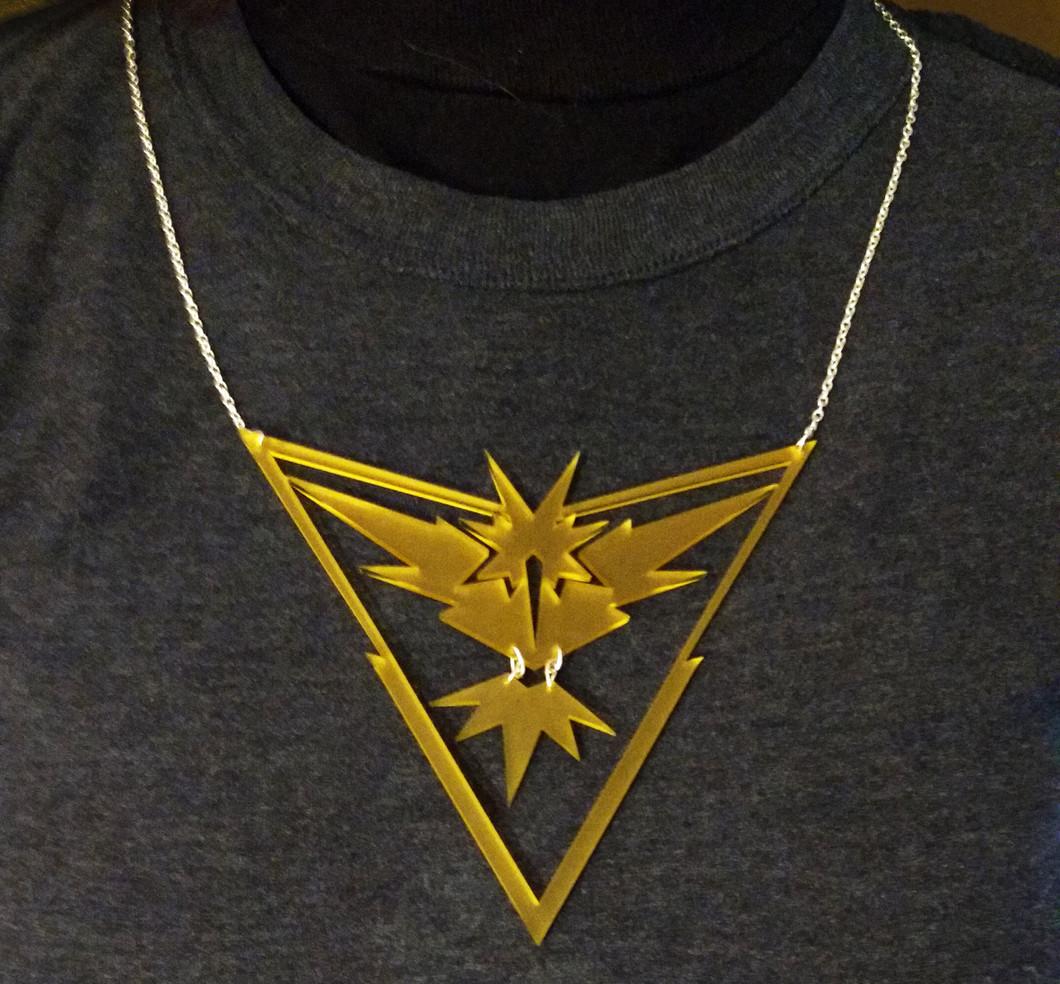 Laser Cut Pokemon Go Necklace