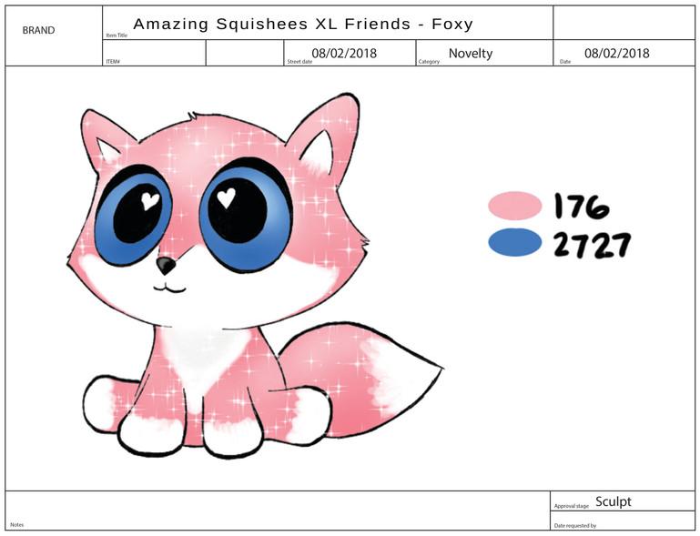 AMAZING SQUISHEE XL FRIENDS Foxy
