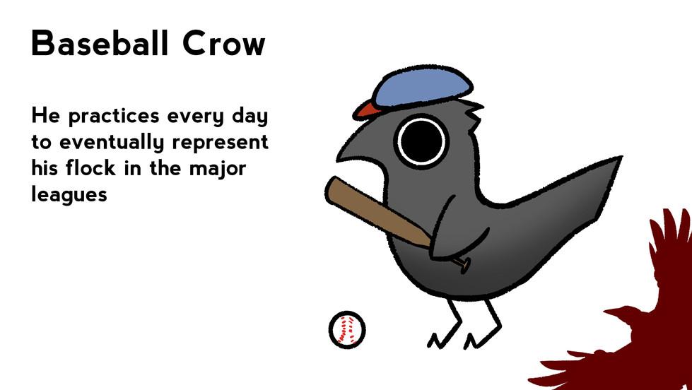Baseball Crow