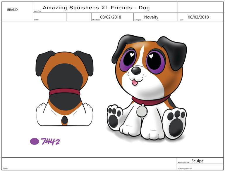 AMAZING SQUISHEE XL FRIENDS Dog