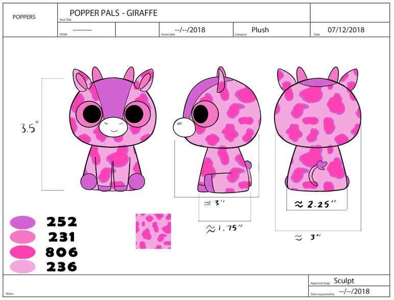 Popper Pals Giraffe Product Sheet