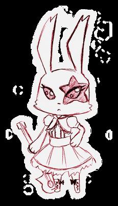 Punk Bunny (Santa Monica Plastics Mascot)