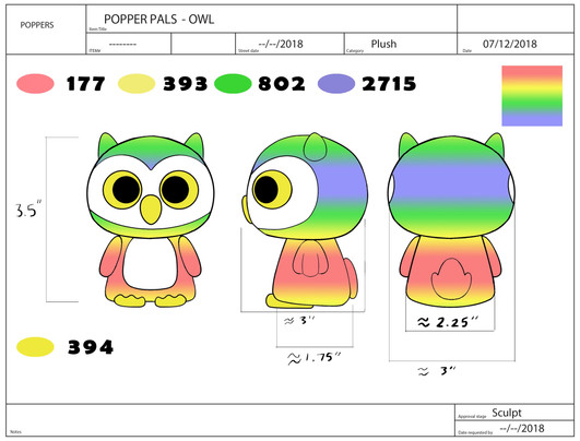 Popper Pals Owl Product Sheet