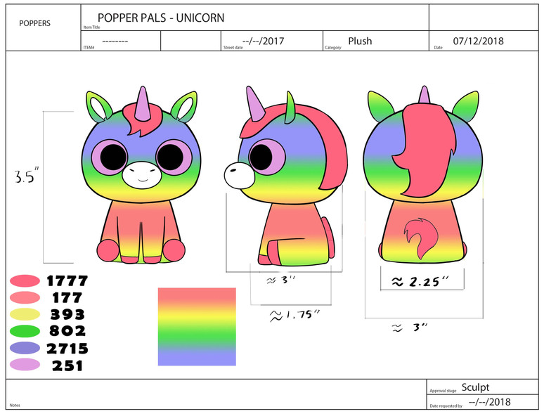Popper Pals Unicorn Product Sheet