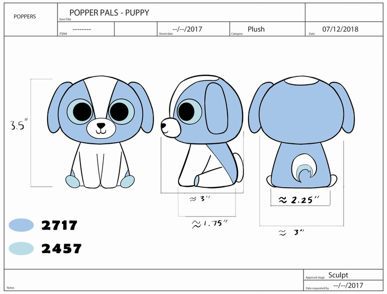 Popper Pals Puppy Product Sheet