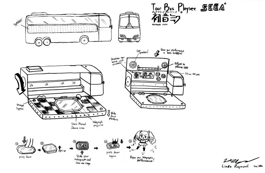MikuMiku Tourbus Sketches