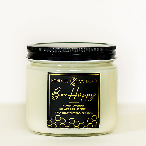 Bee.Happy Candle