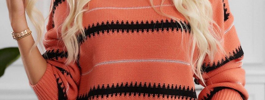 Mirha Striped Knitted Sweater