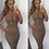 Thumbnail: Toya Nude Suede Lace Up Bodycon Dress
