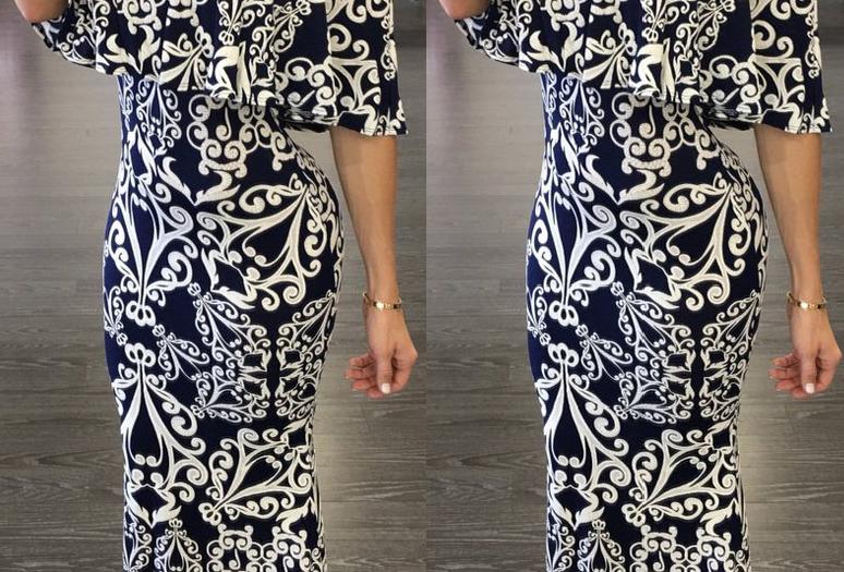 Carmen Paisley Print Bardot Maxi Dress