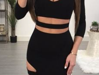 Evie Cage Bodycon Dress