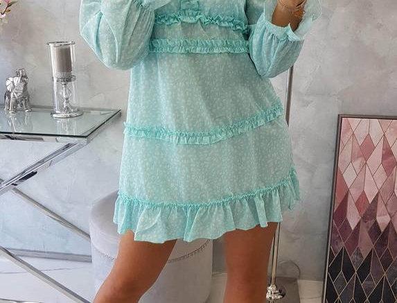 Bel Long Sleeve Ruffle Floral Dress