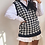 Thumbnail: Gwen Knitted Houndstooth Vest