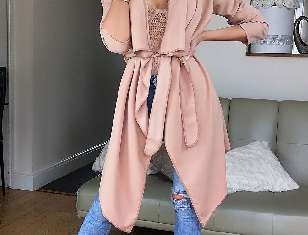 Annabelle Belted Waterfall Jacket