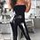 Thumbnail: Black PU Leather Look Wet Look Leggings