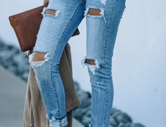 Joanne High Waisted Distressed Jeans