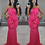 Thumbnail: Claire Bandeau Oversized Bow Maxi Evening Dress