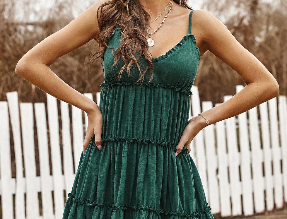 Feefee Ruffle Cami Swing Dress