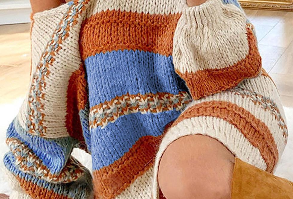 Addy Bombfire Thick Knitted Jumper Dress -  Orange