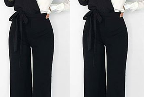 Coleen Contrasted Belted Jumpsuit