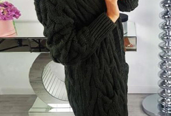 Adela Thick Knitted Trench Cardigan Jacket ONLY £25.60 WITH CODE LOCKDOWN21