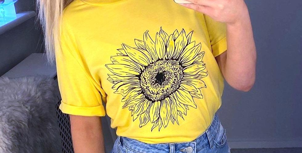 Luna Sunflower Casual Tee
