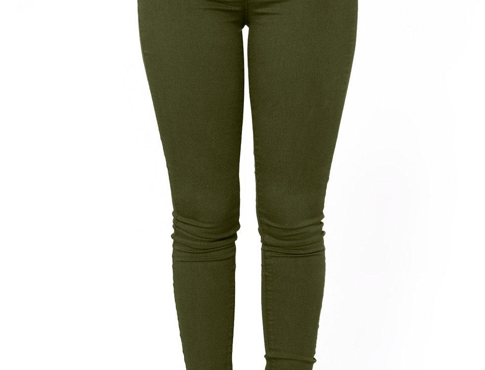 High Waisted Denim Skinny Jeans