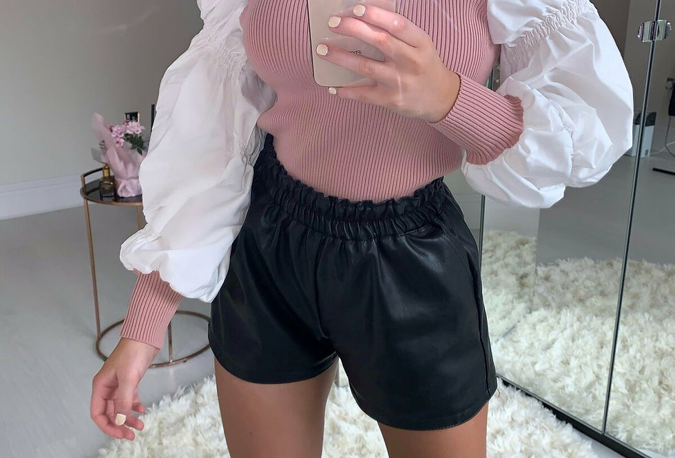 Jessie Contrasted Puff Sleeve Top