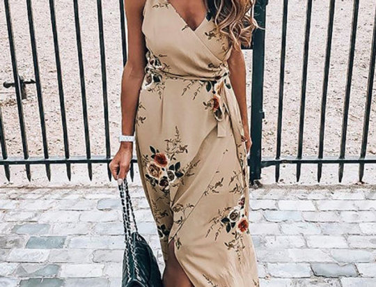 Angie Floral Wrap Maxi Dress