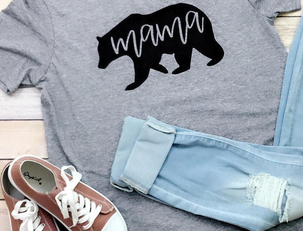 Mama Bear Slogan T-shirt