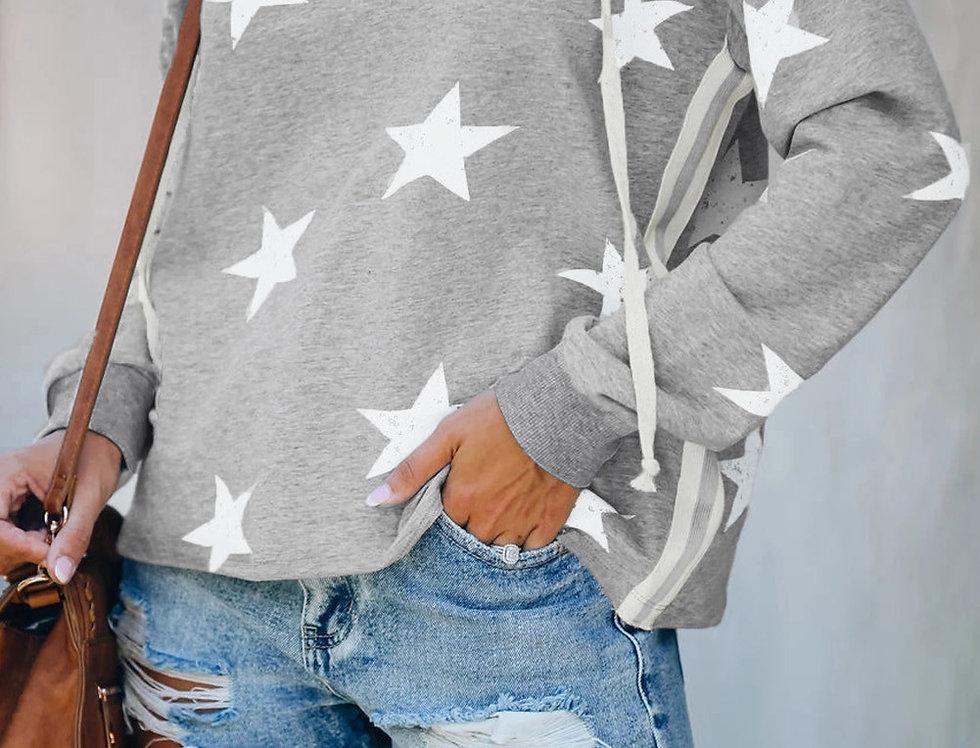 Erica Star Print Lounge Sweater