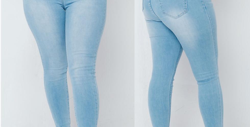 Faith High Waisted Light Denim Stretchy Jeans