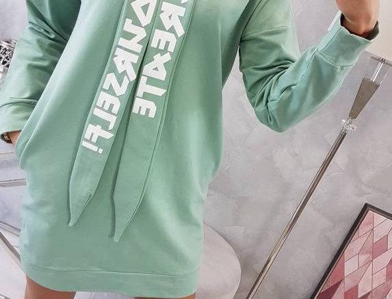 Zara Printed Oversized Hoodie Dress