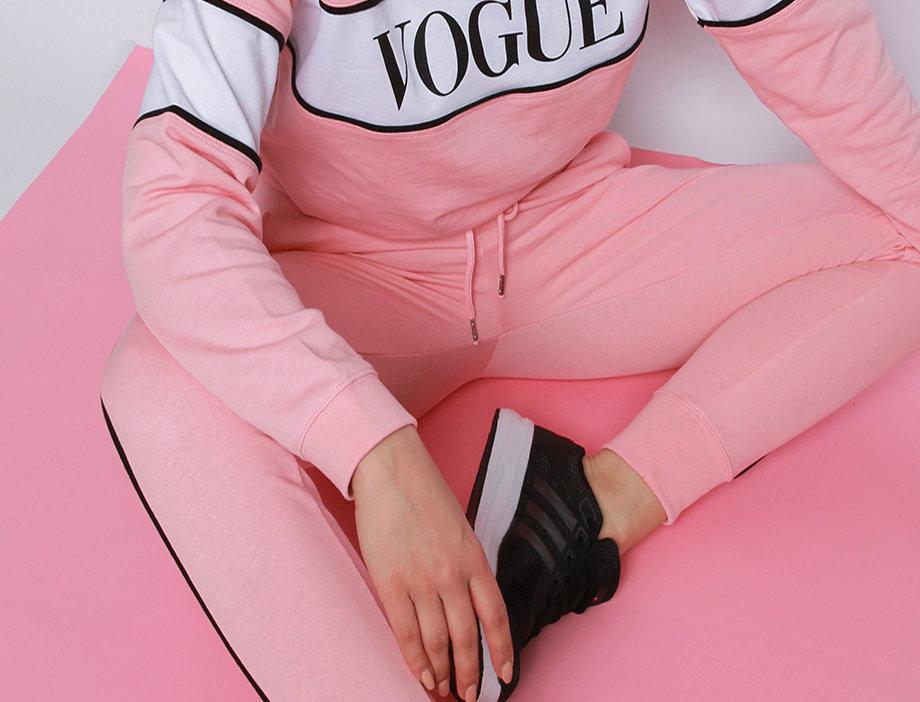 Baby Pink Vogue  Tracksuit Set