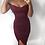 Thumbnail: Diana Bardot Slit Leg Choker Midi Dress