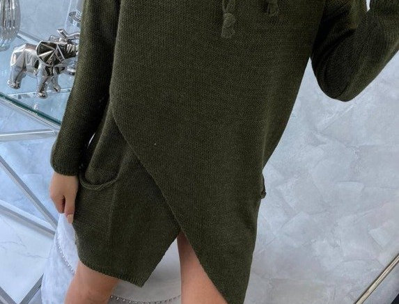 Echo Oversized Knitted Drawstring Jumper Dress