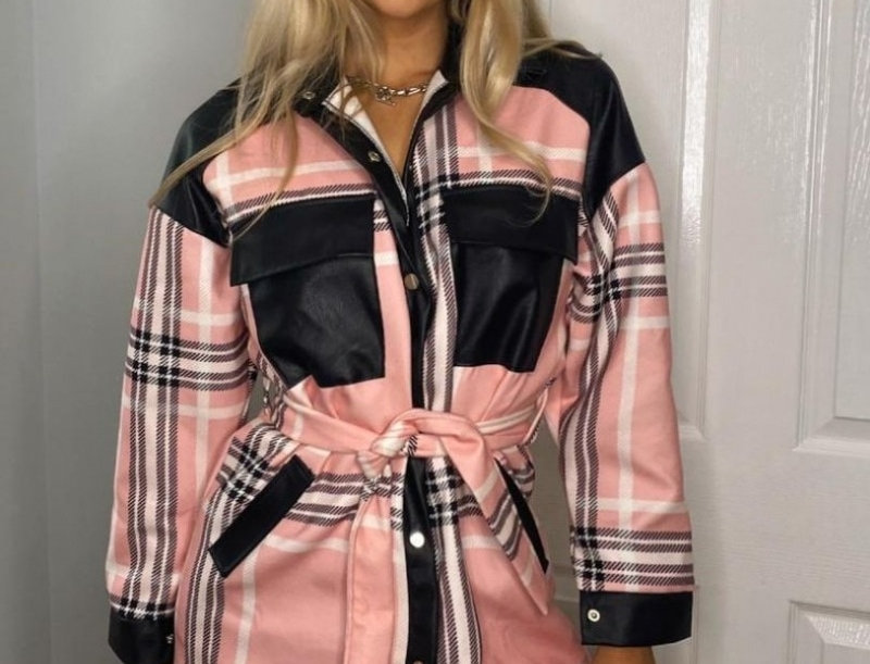 Bailey Checked Patchwork Belted Jacket